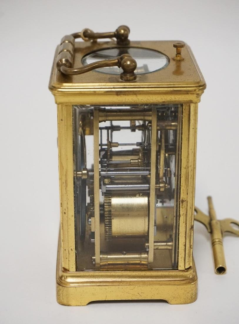 ANTIQUE FRENCH TIFFANY & CO REPEATER CARRIAGE CLOCK - 3