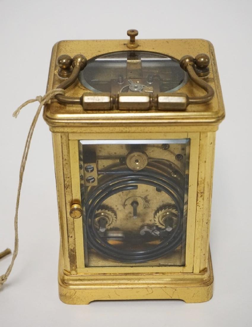 ANTIQUE FRENCH TIFFANY & CO REPEATER CARRIAGE CLOCK - 4