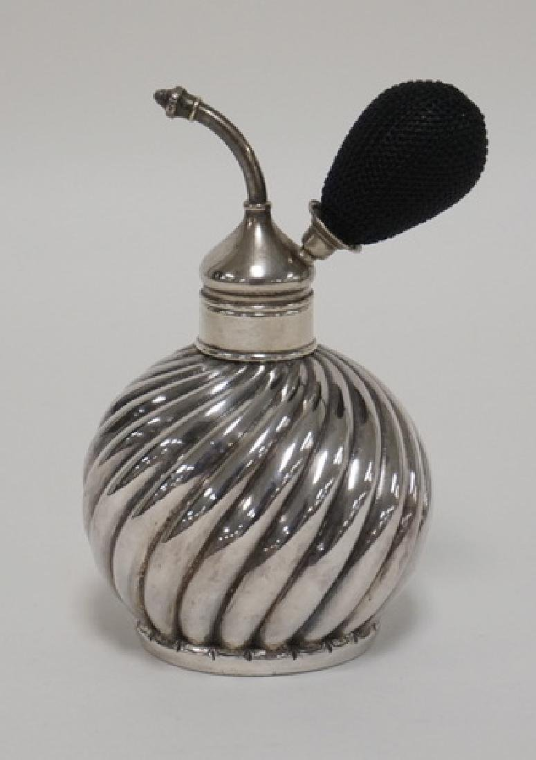 WHITING STERLING SIVLER ATOMIZER. LID HAS SOME PENCIL