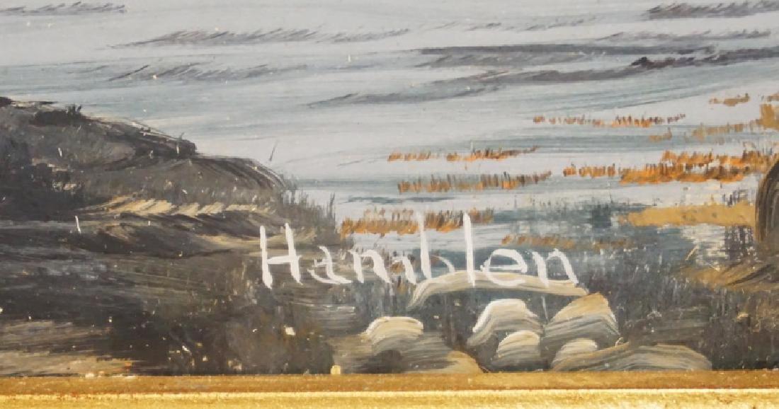 ROBERT HAMBLEN OIL PAINTING ON BOARD OF A SEASCAPE. - 2