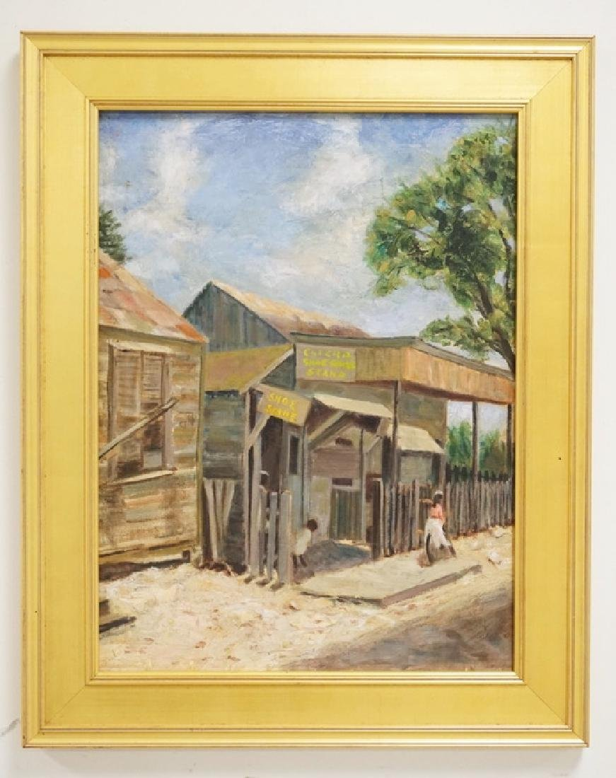 DR. LAWRENCE GEORGE BEISLER (1896-1991) OIL PAINTING ON