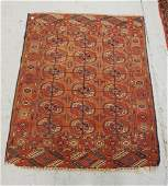 ANTIQUE HAND WOVEN ORIENTAL RUG MEASURING 3 FT 8 X 3 FT