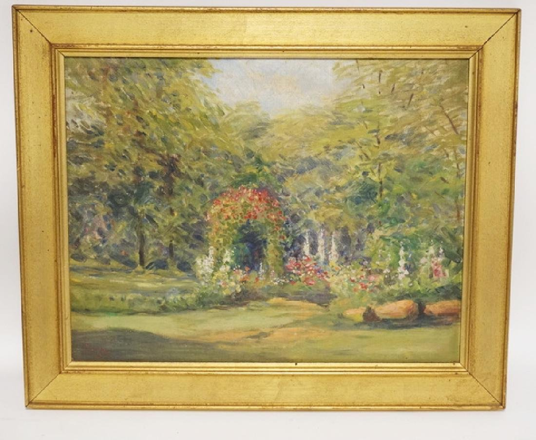 IMPRESSIONIST OIL PAINTING ON CANVAS. SIGNED LOWER
