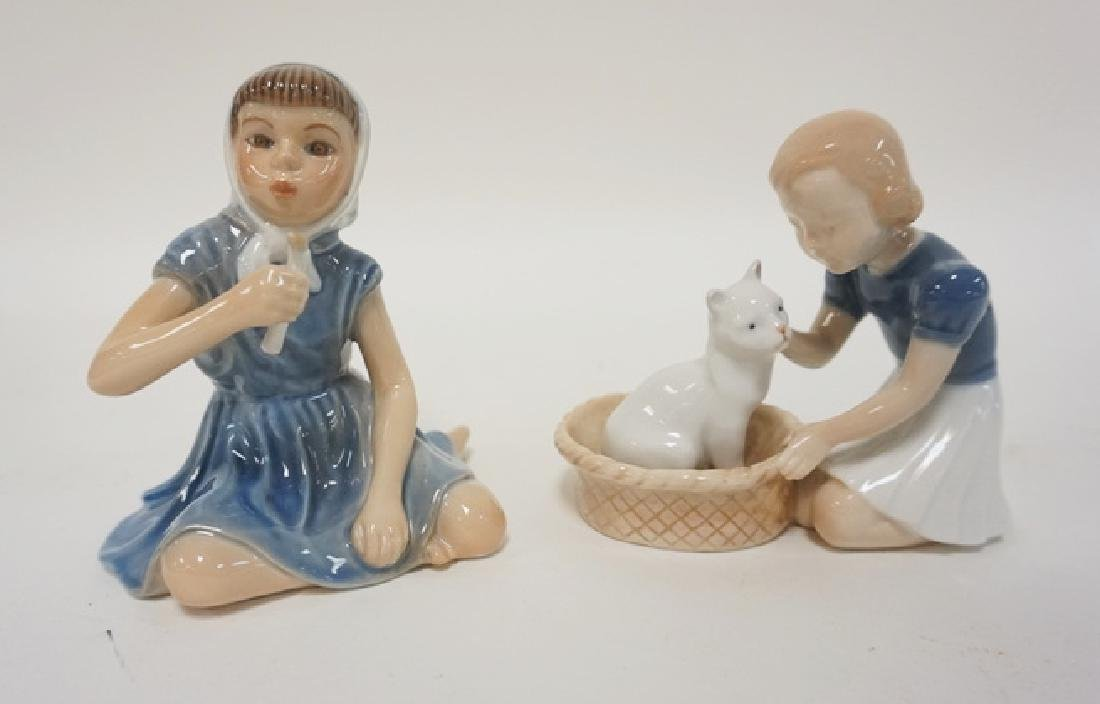2 DANISH PORCELAIN FIGURES, DJ GIRL WITH CANDLE AND B&G