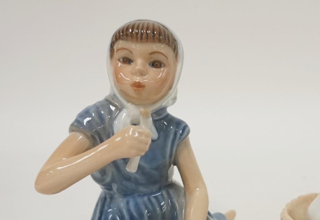 2 DANISH PORCELAIN FIGURES, DJ GIRL WITH CANDLE AND B&G - 2