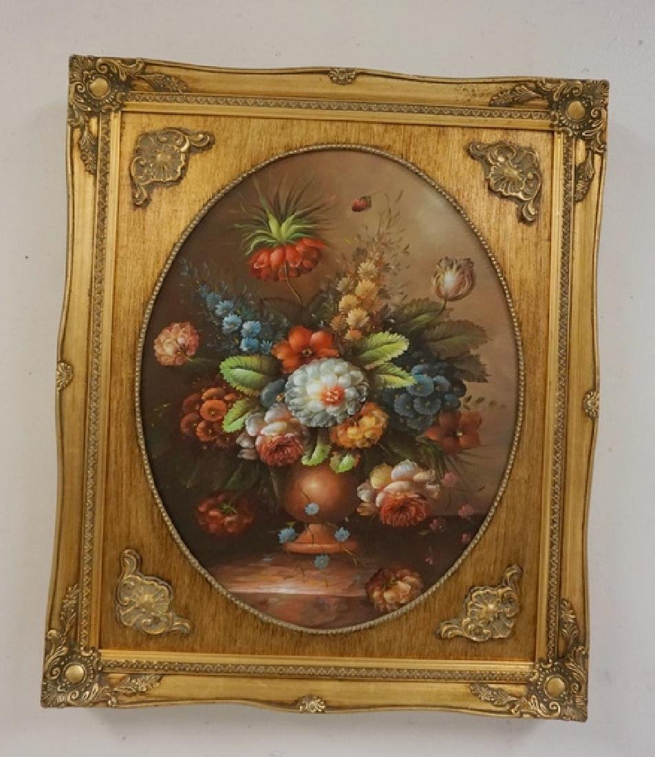 PAIR OF O/C FLORAL STILL LIFE PAINTINGS IN MATCHING - 2