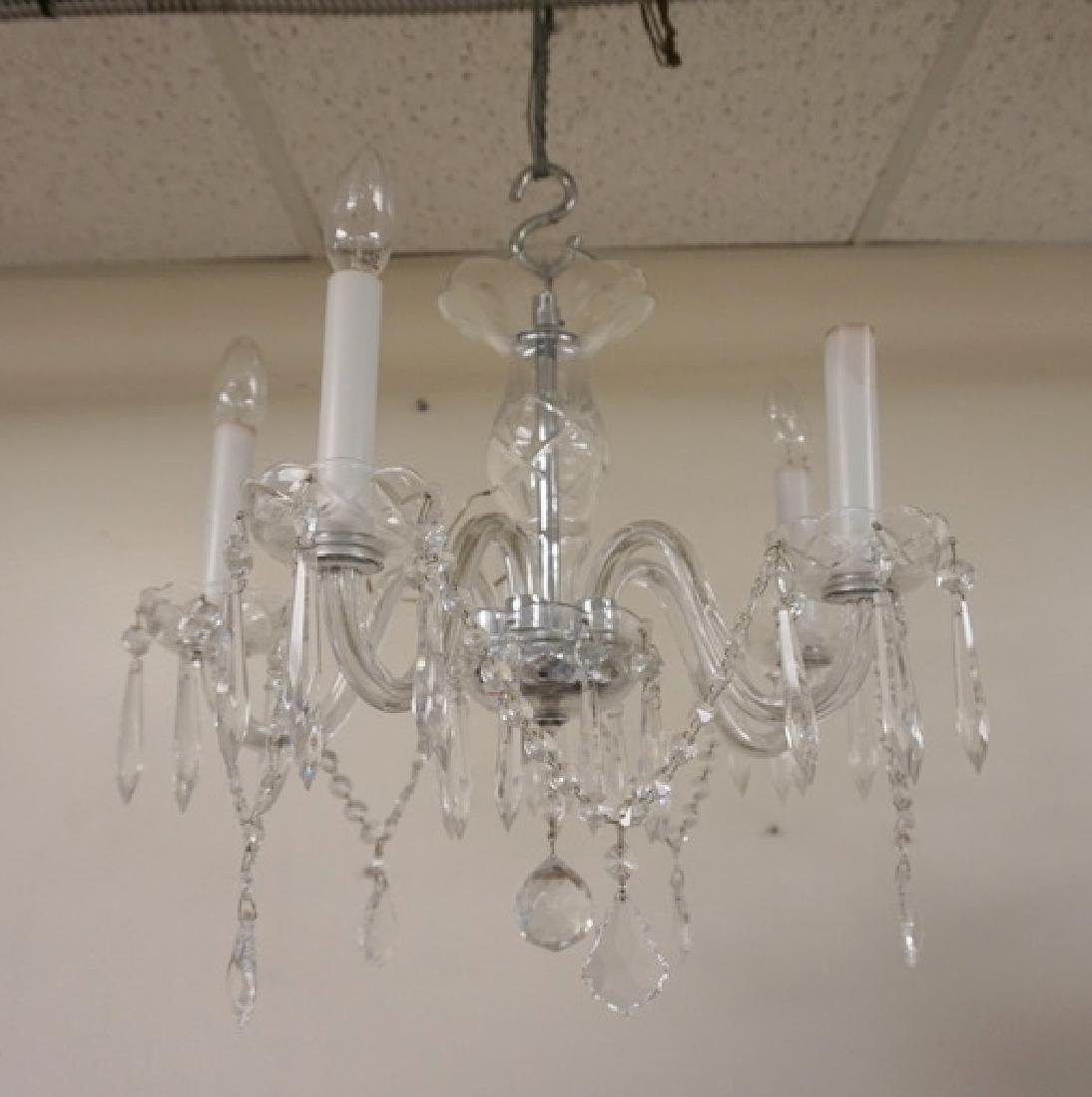 5 LIGHT CUT CRYSTAL SMALL SIZE CHANDELIER WITH WITH CUT