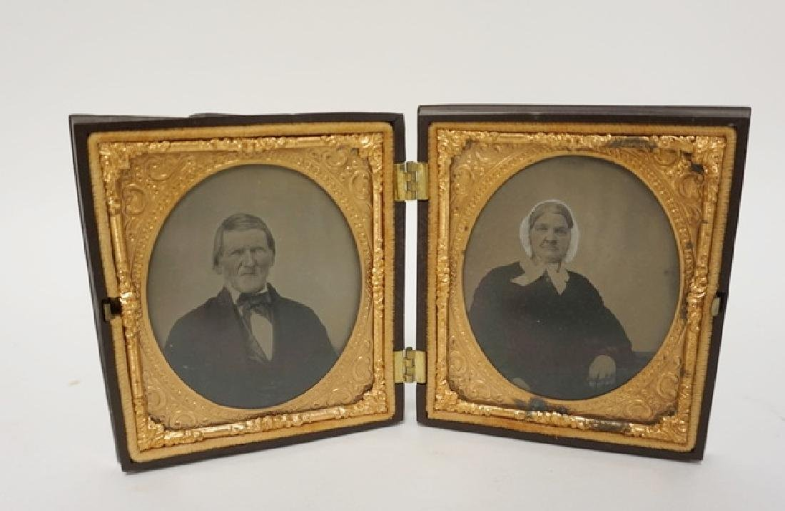 HARD CASED DOUBLE IMAGE, A LADY AND A GENTLEMAN. CASE
