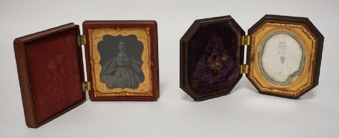 LOT OF 2 HARD CASED IMAGES, A LADY AND A GENTLEMAN. 3