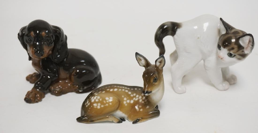 GROUP OF 3 ROSENTHAL PORCELAIN ANIMALS- KITTEN, PUPPY