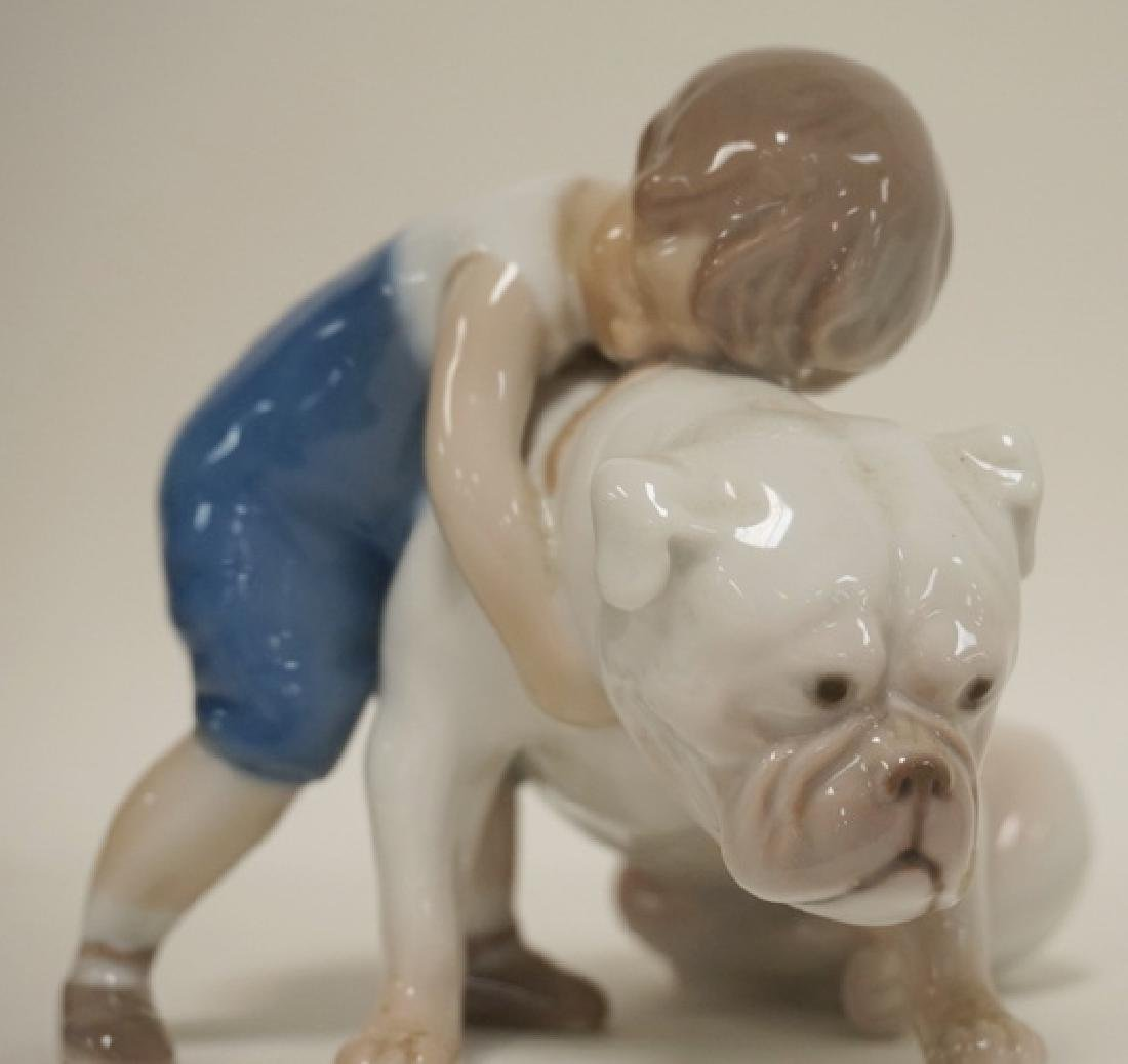 GROUP OF 3 B&G, DENMARK PORCELAIN FIGURES- 2 DOGS AND A - 2