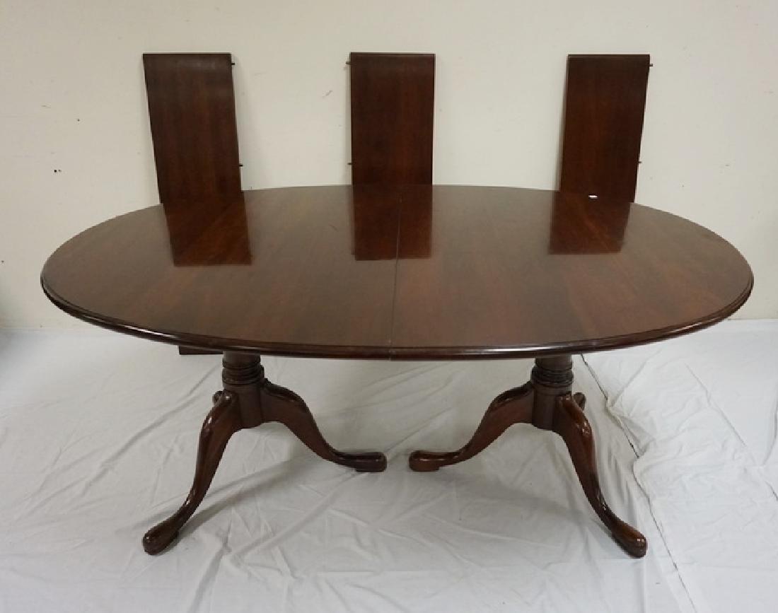 STATTON  CHERRY OVAL DINING TABLE WITH THREE 12 IN