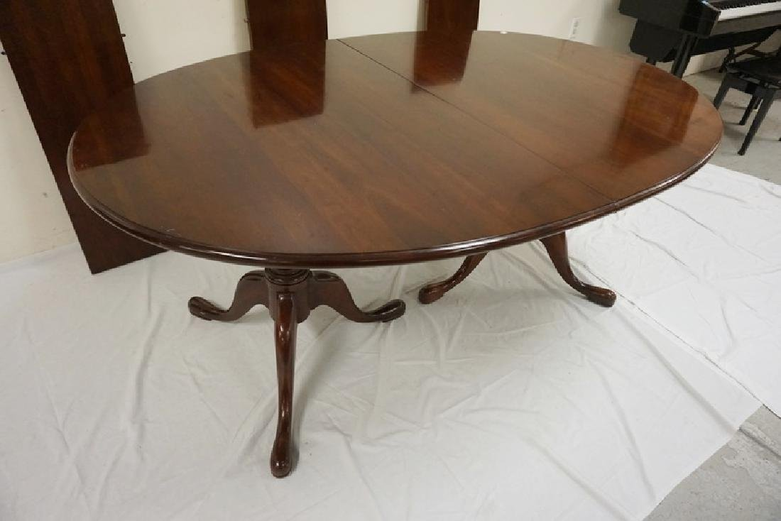 STATTON  CHERRY OVAL DINING TABLE WITH THREE 12 IN - 2