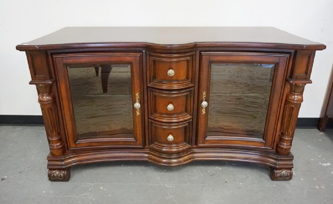 FAIRMONT CABINET WITH 2 CURVED GLASS DOORS AND 3
