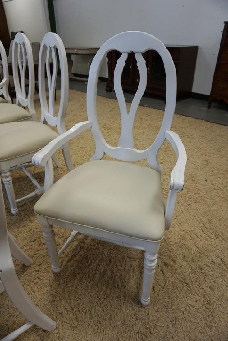 SET OF 8 DINING CHAIRS, PAINTED WHITE. - 2