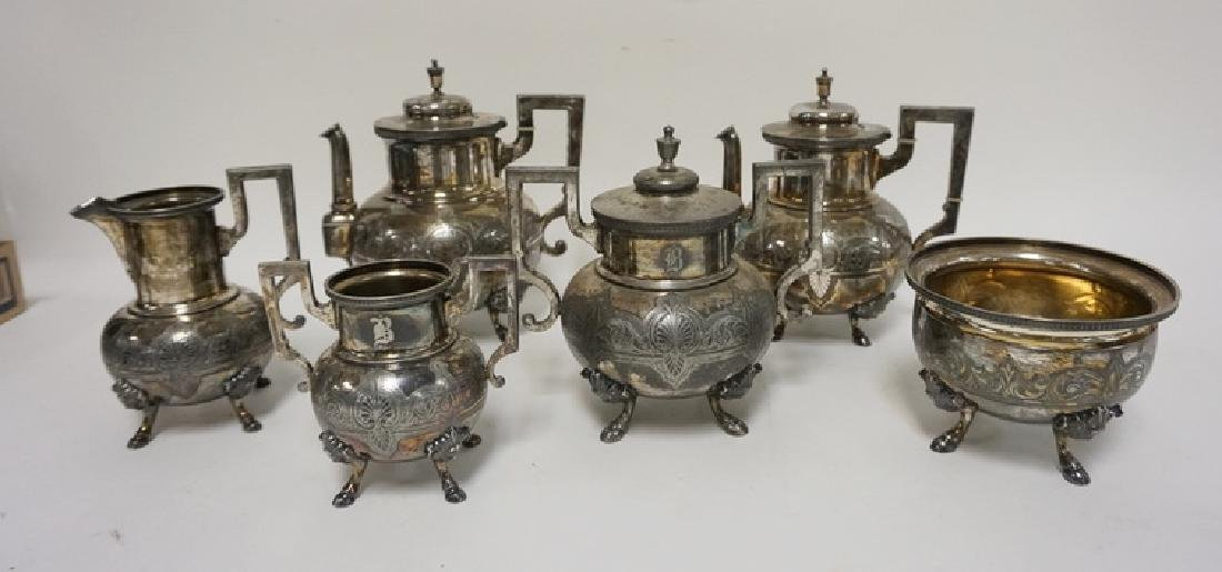 ROGERS VICTORIAN 6 PC TEA AND COFFEE SET W/FACE OF A