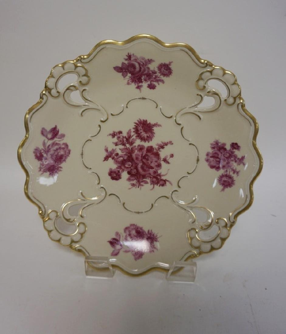 PMR BAVARIA LARGE DECORATED PLATE WITH OPEN CORNERS. US