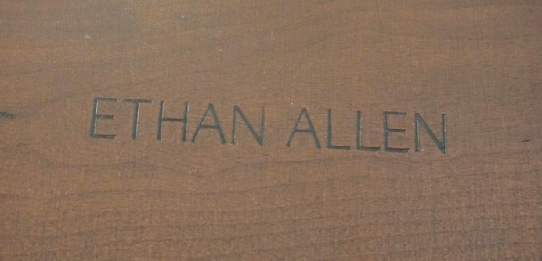 ETHAN ALLEN CORNER CURIO CABINET. 78 INCHES HIGH., 29 - 4