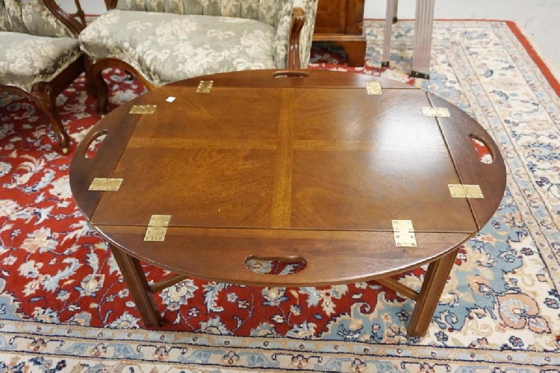 MAHOGANY BUTLERS TABLE WITH CHIPPENDALE LEGS. - 2
