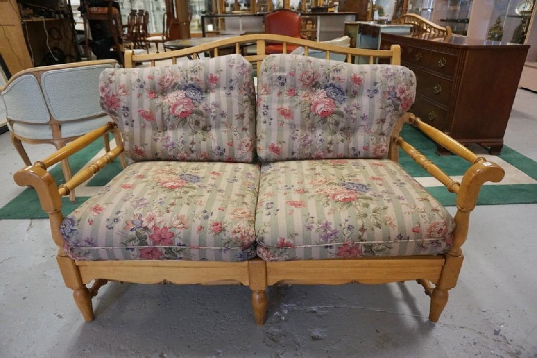 ETHAN ALLEN *TRADITIONAL CLASSICS* MAPLE LOVESEAT WITH