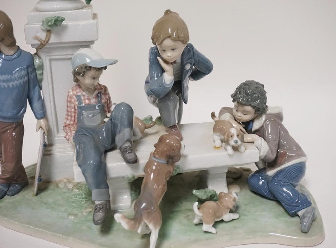 LLADRO *PUPPY DOG TAILS* PORCELAIN FIGURAL GROUP. 14 - 2