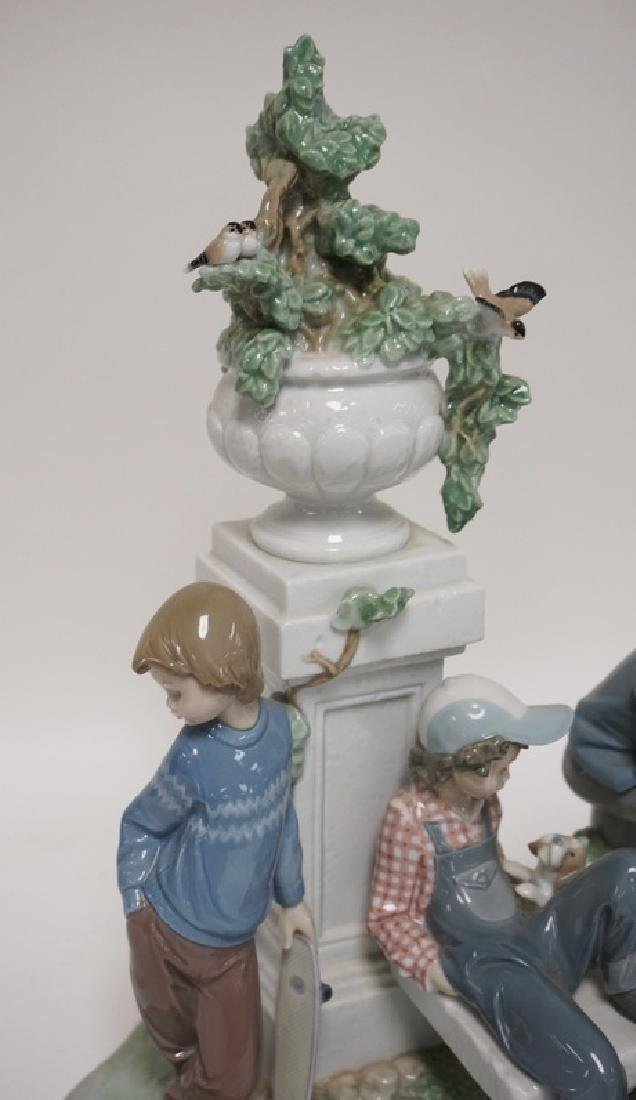 LLADRO *PUPPY DOG TAILS* PORCELAIN FIGURAL GROUP. 14 - 3