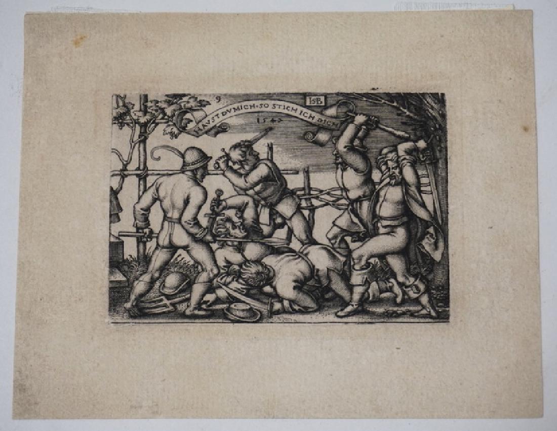 HANS SEBALD BEHAN, GERMAN 1500-1550 SMALL PRINT OF A