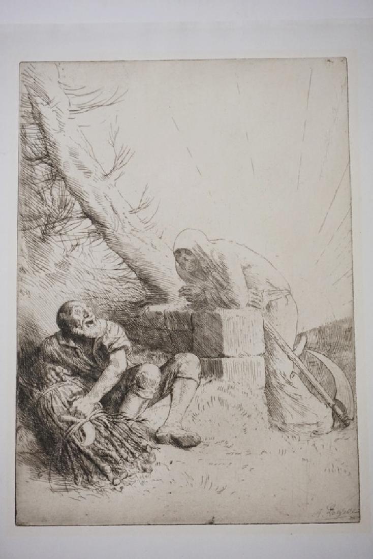 ALPHONSE LEGROS (1837-1911) PRINT *LA MORT ET LE