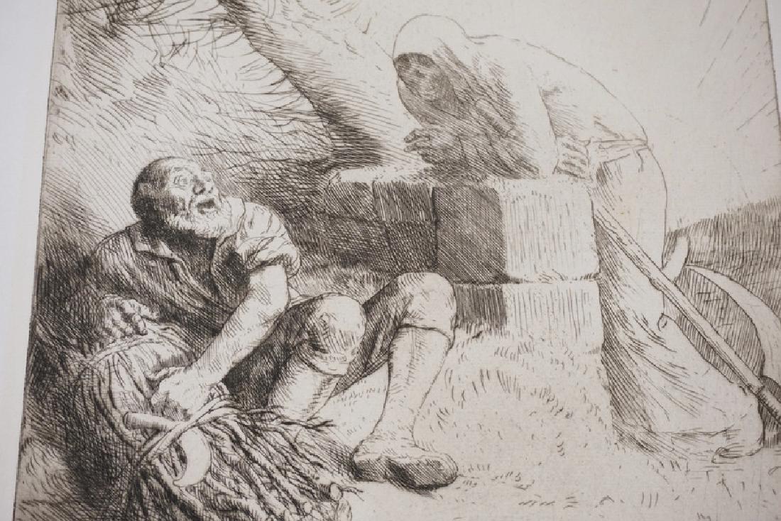 ALPHONSE LEGROS (1837-1911) PRINT *LA MORT ET LE - 2