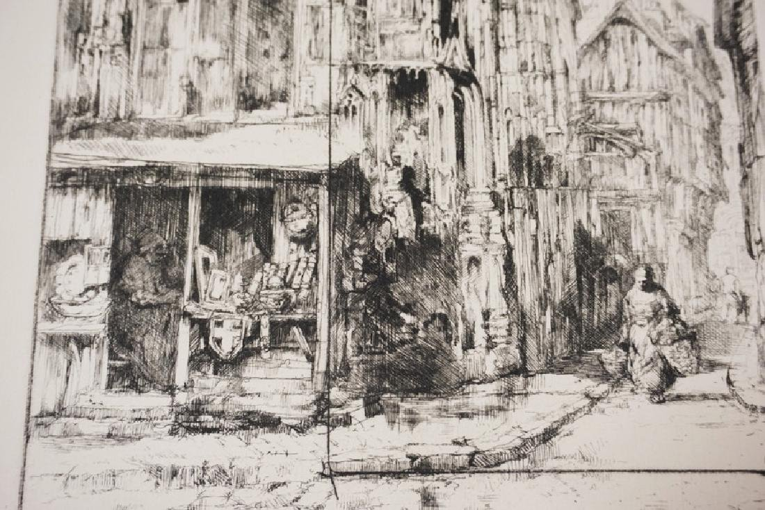 AUGUSTE BROUET PRINT OF A FRENCH STREET CORNER. 8 1/4 - 2