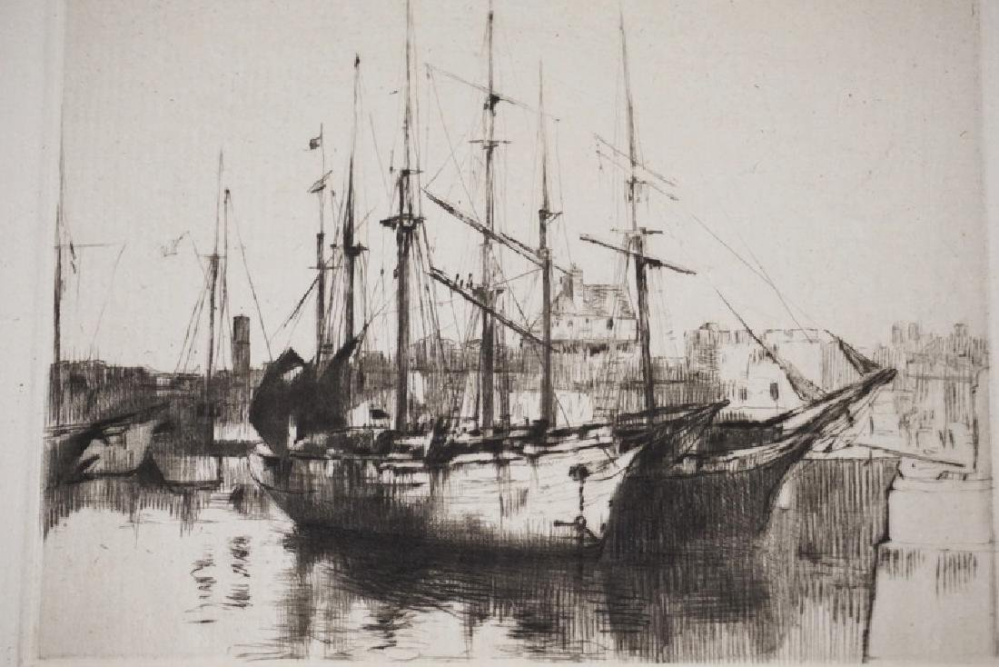 AUGUSTE BROUETALIM ED ETCHING OF A BOAT *ST - 2