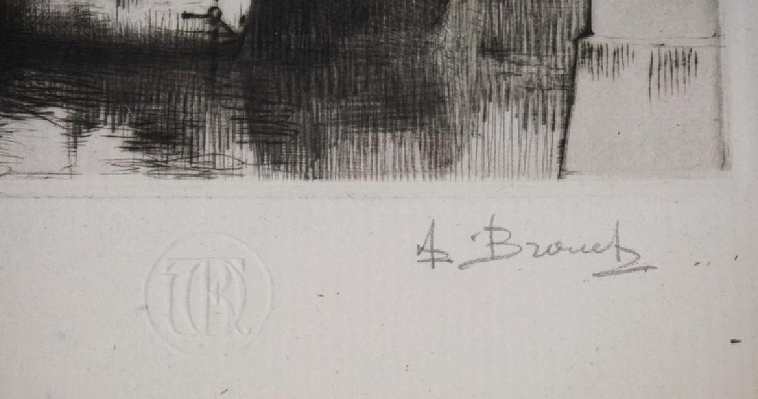 AUGUSTE BROUETALIM ED ETCHING OF A BOAT *ST - 3