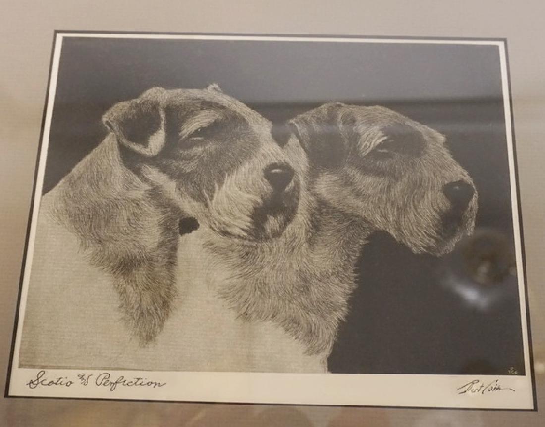 2 BERT COBB DOG PRINTS LARGEST 8 1/2 X 7 IN. FRAMED - 2
