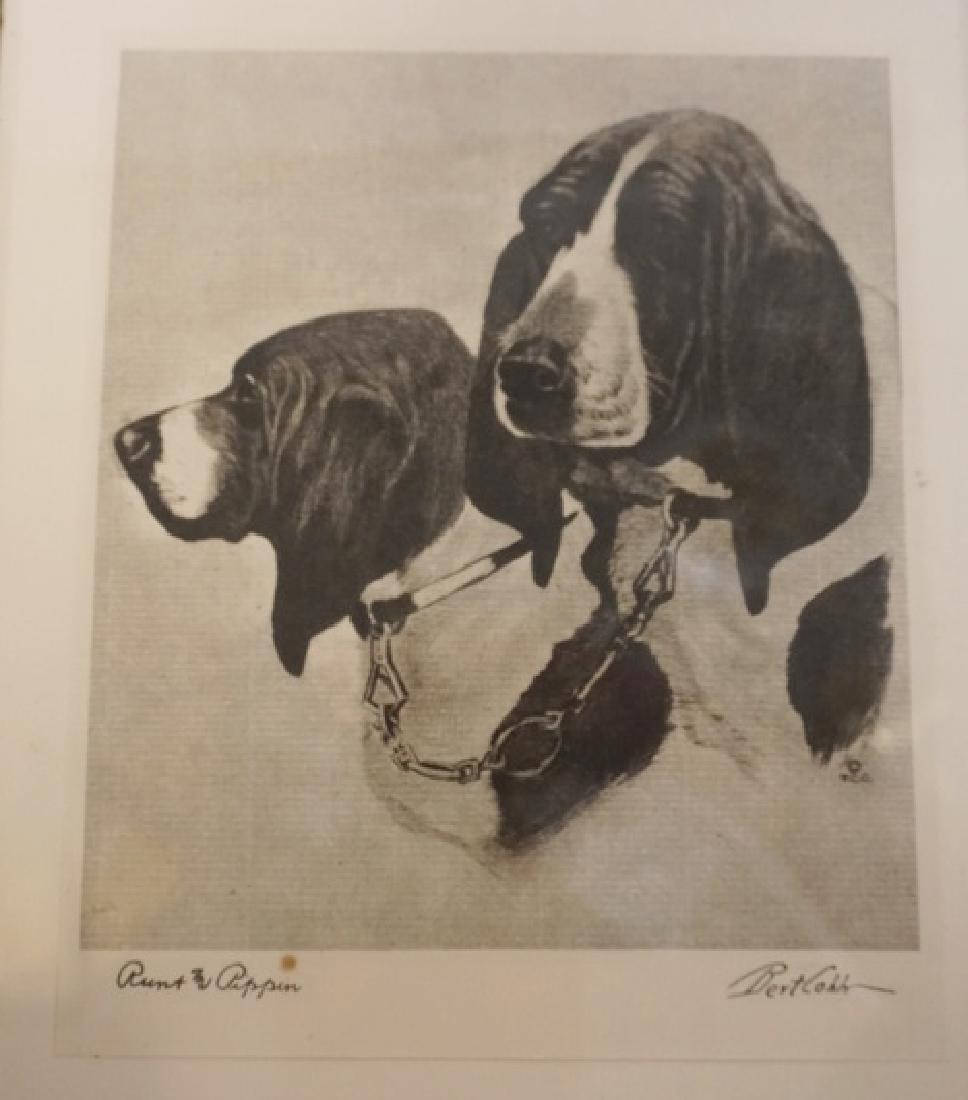 2 BERT COBB DOG PRINTS LARGEST 8 1/2 X 7 IN. FRAMED - 3