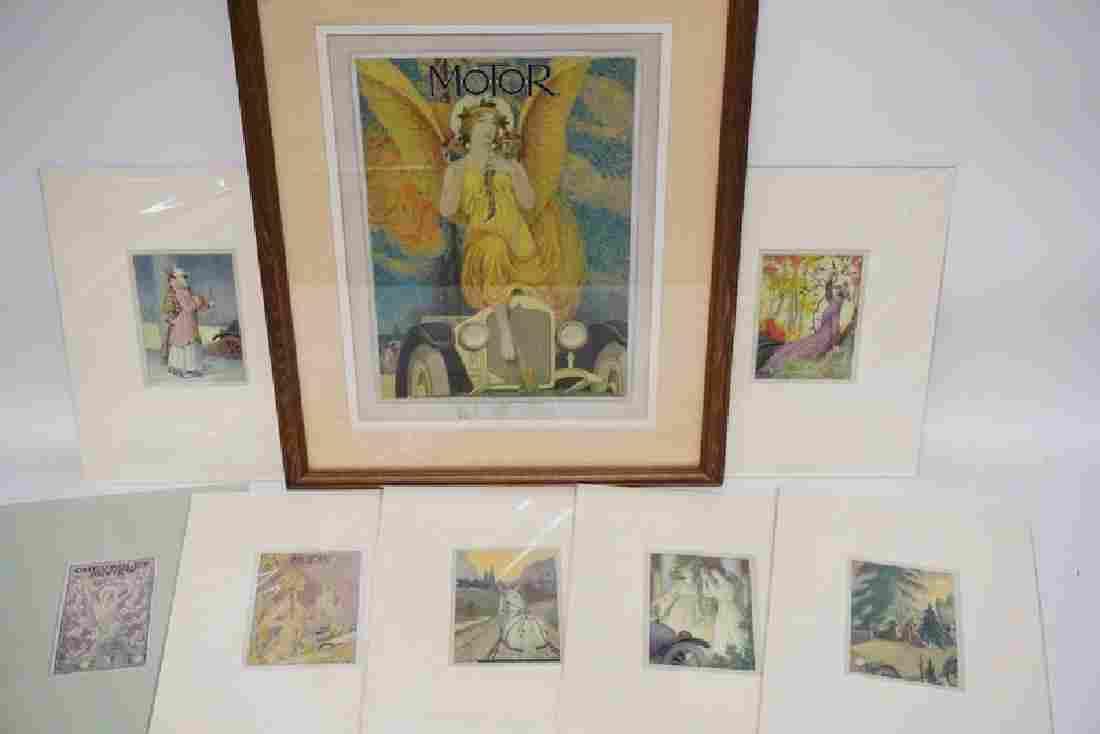 7 PIECES OF CHARLES HALLOWAY ORIGINAL ARTWORK.