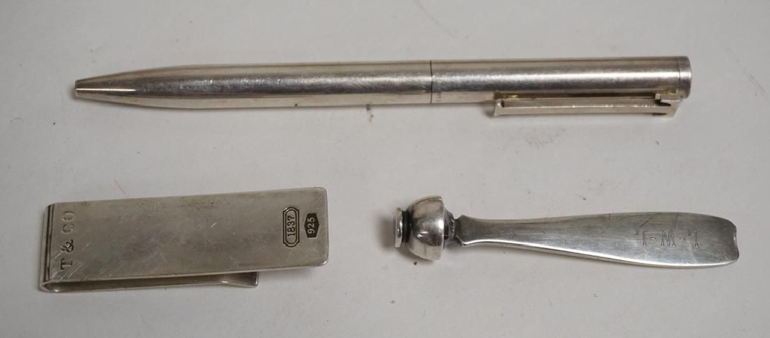 GROUP OF 3 TIFFANY & CO STERLING SILVER ITEMS. A PHONE