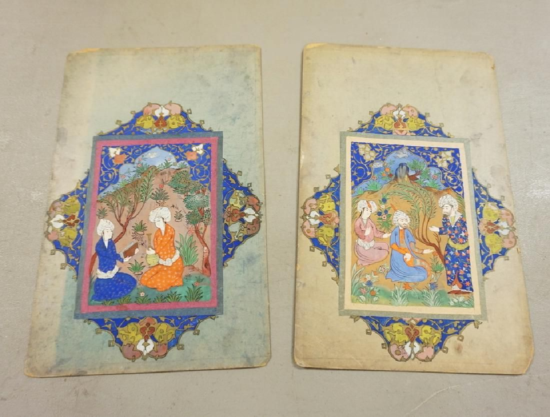 2 EARLY PERSIAN PAINTINGS. 7 3/4 IN X 12 1/2 IN