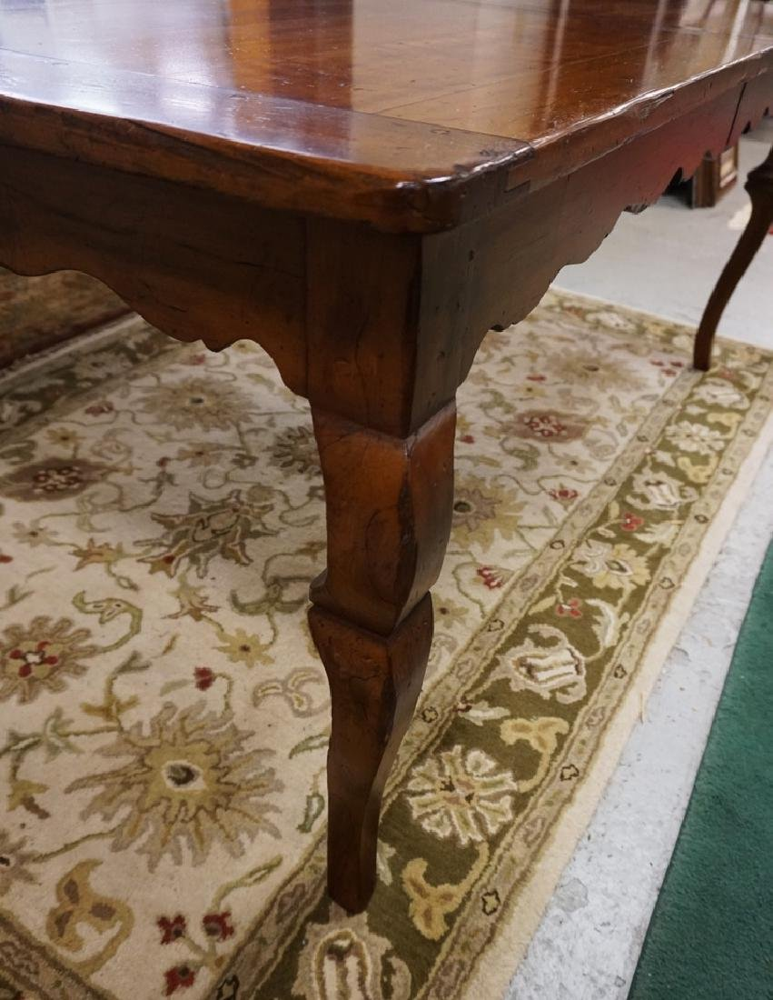 WRIGHT TABLE COMPANY SOLID CHERRY DINING TABLE. BENCH - 2