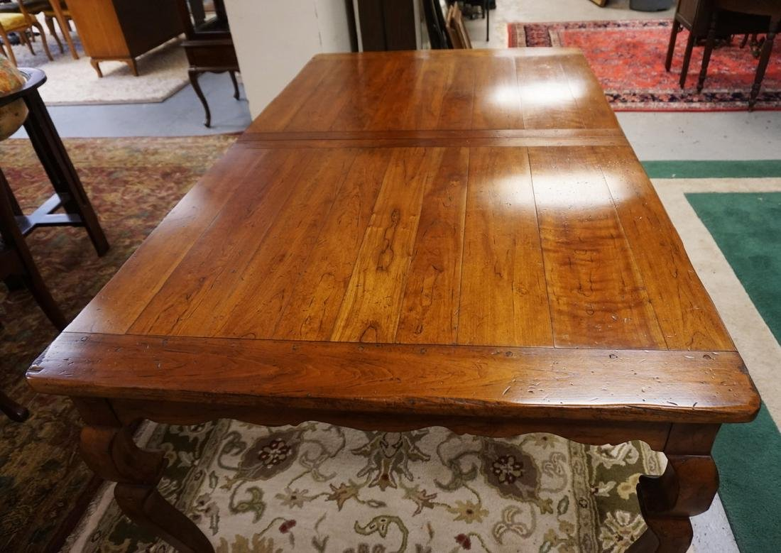 WRIGHT TABLE COMPANY SOLID CHERRY DINING TABLE. BENCH - 3