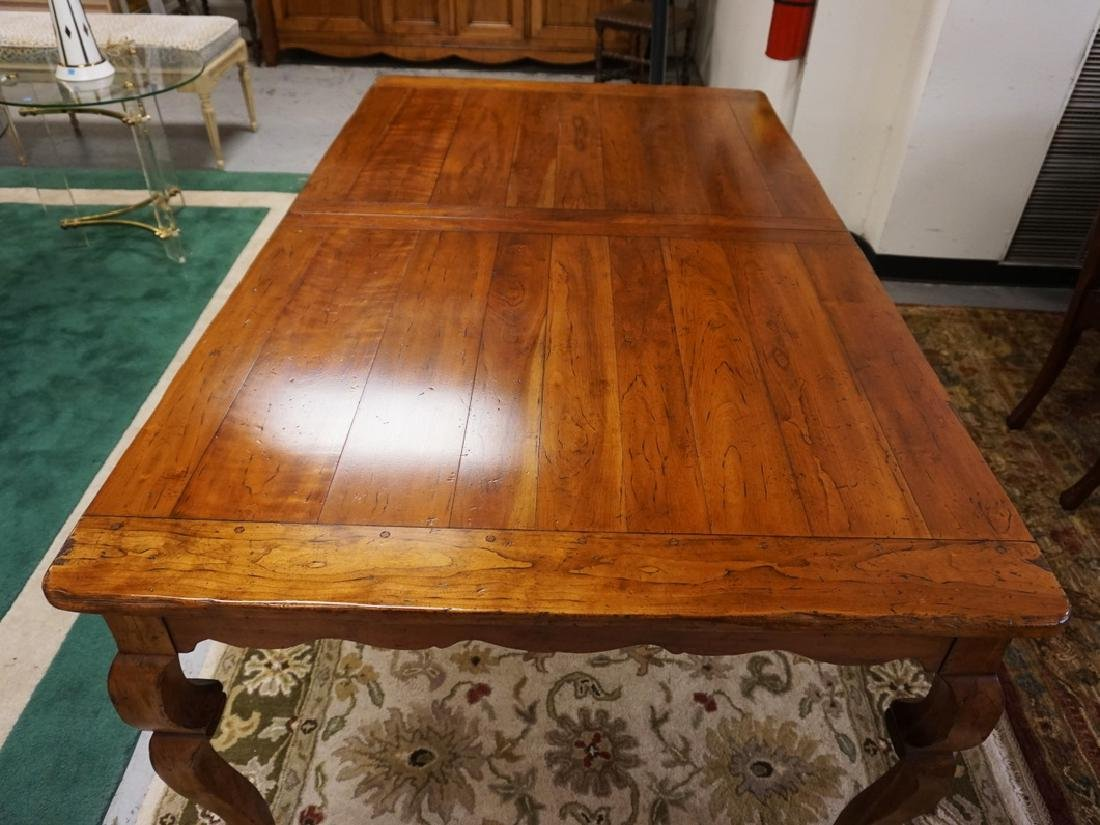 WRIGHT TABLE COMPANY SOLID CHERRY DINING TABLE. BENCH - 4