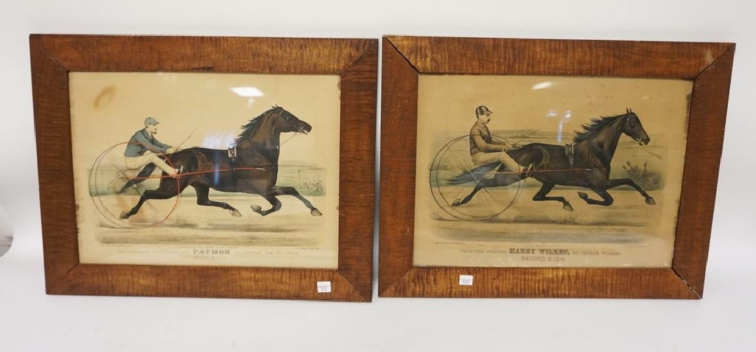 PAIR OF CURRIER AND IVES SULKIE PRINTS- *PATRON* AND