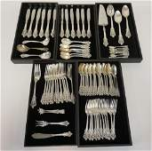 WALLACE GRANDE BAROQUE STERLING SILVER FLATWARE SET. 91