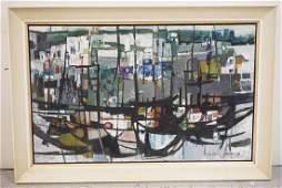 ZVI MAIROVICH (ISRAELI, 1911-1974) LARGE ABSTRACT OIL