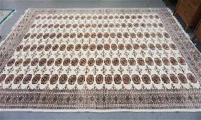 BOKHARA RUG WITH IVORY GROUND 13 FT 3IN X 9 FT 10 IN