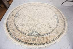 ROUND ORIENTAL RUG 7 FT 1 IN DIAMETER