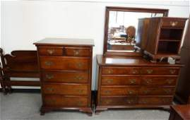 KLING MAHOGANY 4 PC BEDROOM SUITE PINEAPPLE CARVED