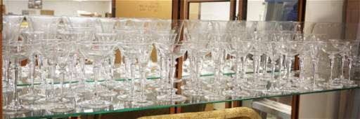 49 PIECE STEUBEN CRYSTAL STEMWARE 5 SIZES TALLEST IS