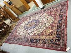 HAND WOVEN ORIENTAL RUG MEASURING 12 FT 2 INCHES X 7 FT