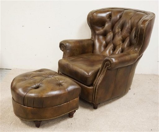 Surprising Bradington Young Leather Chair And Ottoman Missing One Pdpeps Interior Chair Design Pdpepsorg
