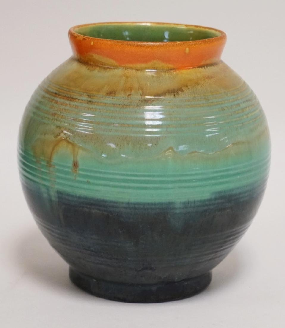 STANGL RAINBOW ART POTTERY VASE. 7 1/8 INCHES HIGH.